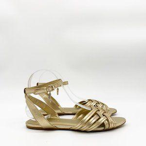 COACH Women's Summers Sandals Metallic Gold Flats